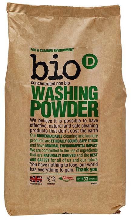 Bio-D prášek na praní 2 kg (Univerzální prášek, bez dráždivých enzymů, pro pračky i pro