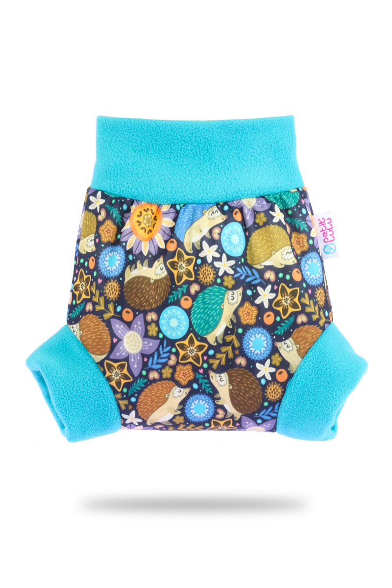 Natahovací svrchní PUL kalhotky Petit Lulu vel. XL - Ježečci (Pull-up svrchní kalhotky velikost XL)
