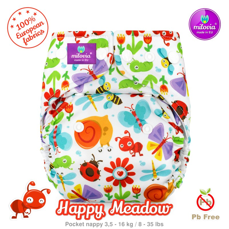 Kapsová plena Milovia fleece Happy Meadow
