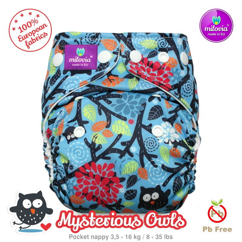 Kapsová plena Milovia fleece Mysterious Owls