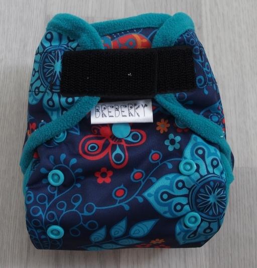 Novorozenecké svrchní kalhotky Breberky na sz(PUL klasický) - Moře a vážky modré (Novorozenecké PUL svrchní kalhotky na suchý zip)