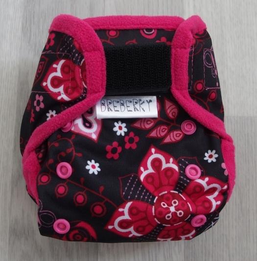 Novorozenecké svrchní kalhotky Breberky na sz(PUL klasický) - Moře a vážky růž. (Novorozenecké svrchní PUL kalhotky na suchý zip)