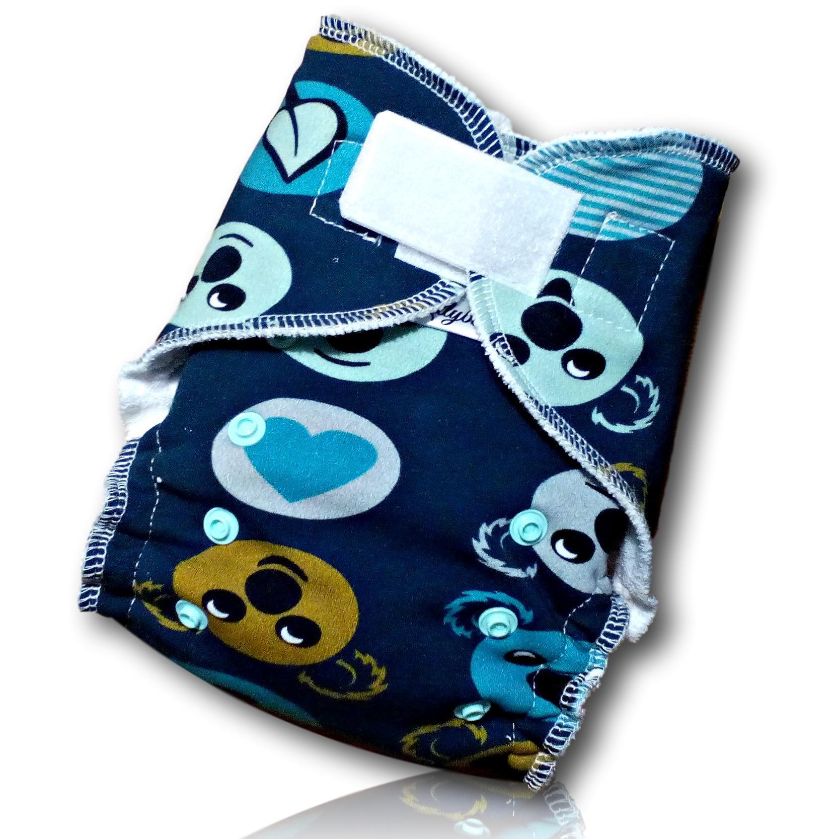 Kalhotová plena Lillybe na suchý zip - Koaly (Jenovelikostní kalhotová plena na suchý zip - obsahuje dlouhou vkládací plenu)
