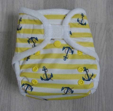 Svrchní novorozenecké PUL kalhotky Bambi Roxy na suchý zip - Anchors (Novorozenecké svrchní PUL Bambi Roxy)