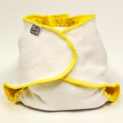 Kalhotková plena na snappi sponku Yháček, žlutá (Jednovelikostní kalhotová plena - Obsahuje krátkou vkládací plenu)