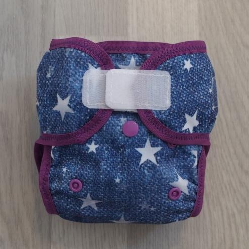 Novorozecké svrchní PUL kalhotky Teas na sz - Hvězdy fialová (Novorozenecké svrchní PUL Teas)