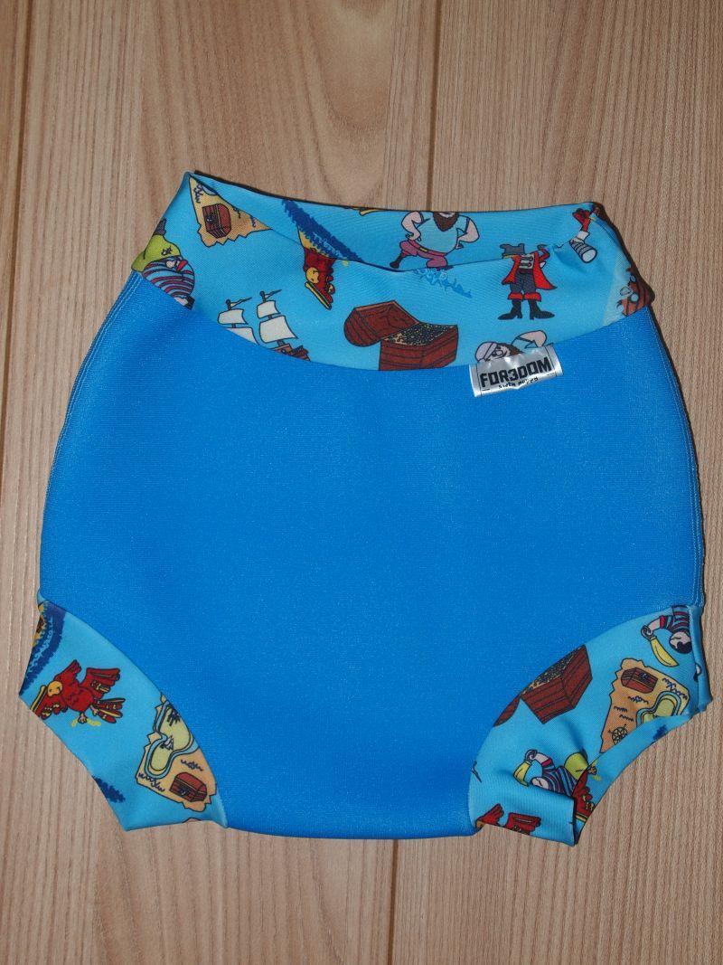 Swim nappy - piráti na modré, velikost XL (Swim nappy - neoprenové plavací plenky)