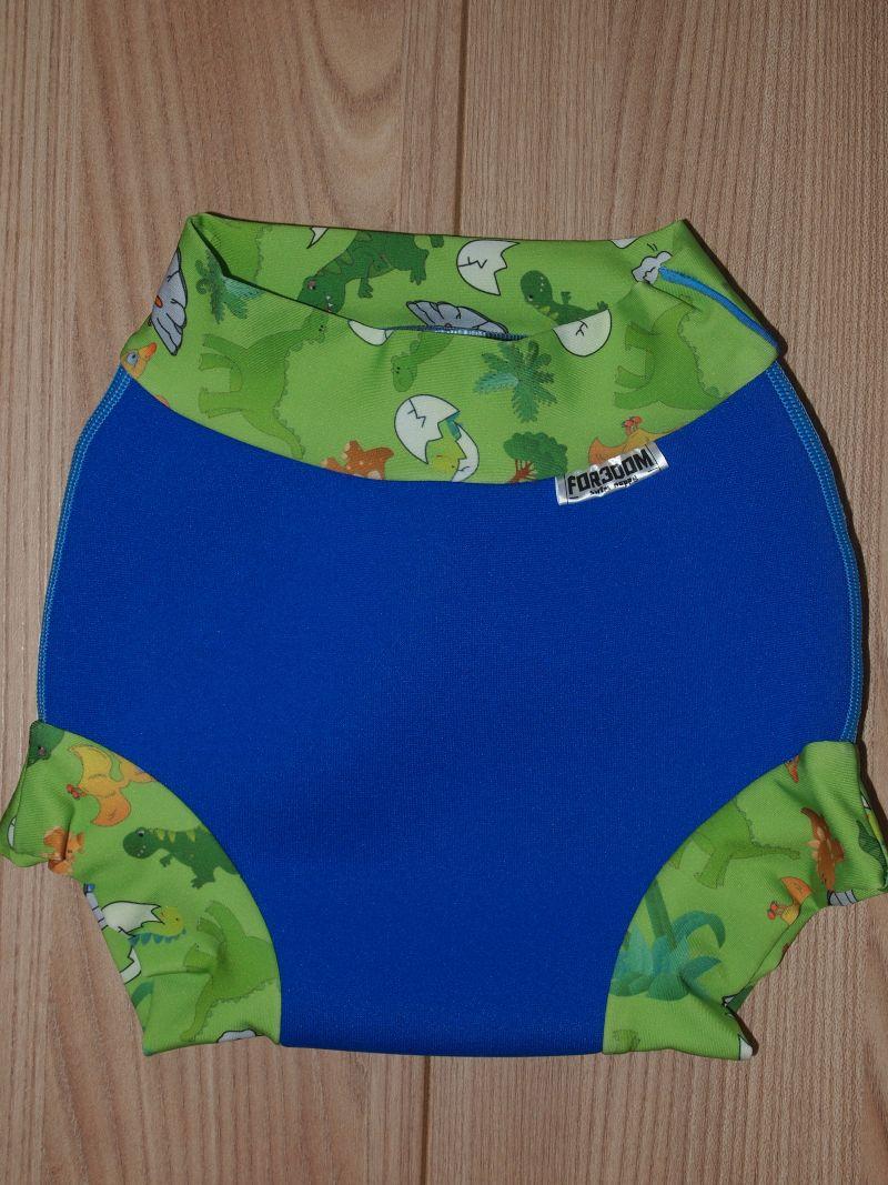 Swim nappy - dinosauři na královské modré, velikost L (Swim nappy - neoprenové plavací plenky)