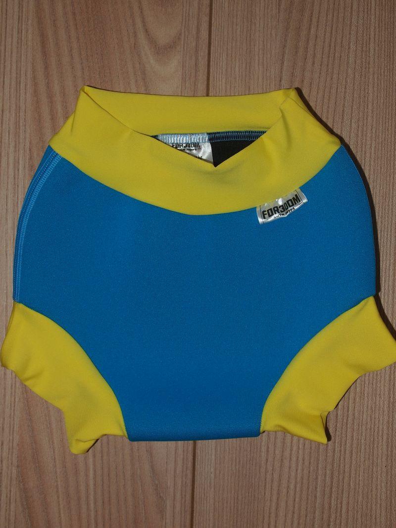 Swim nappy - tyrkysové se žlutou, velikost M (Swim nappy - neoprenové plavací plenky)