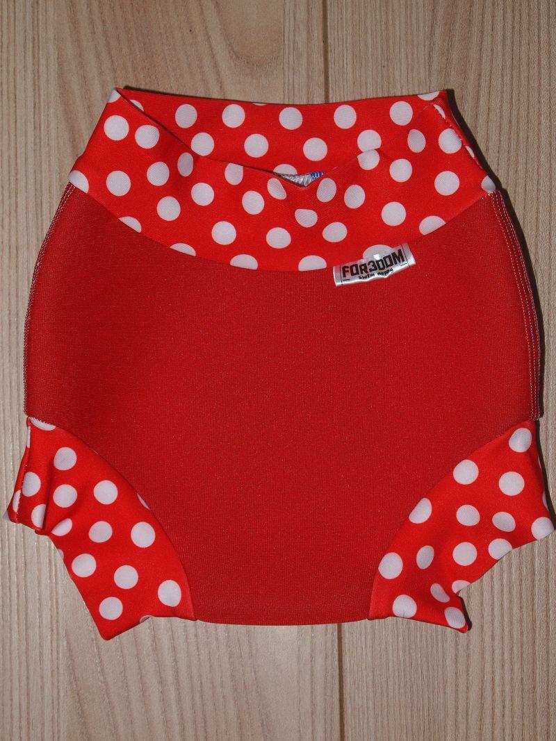 Swim nappy - puntíky na červené, velikost S (Swim nappy - neoprenové plavací plenky)