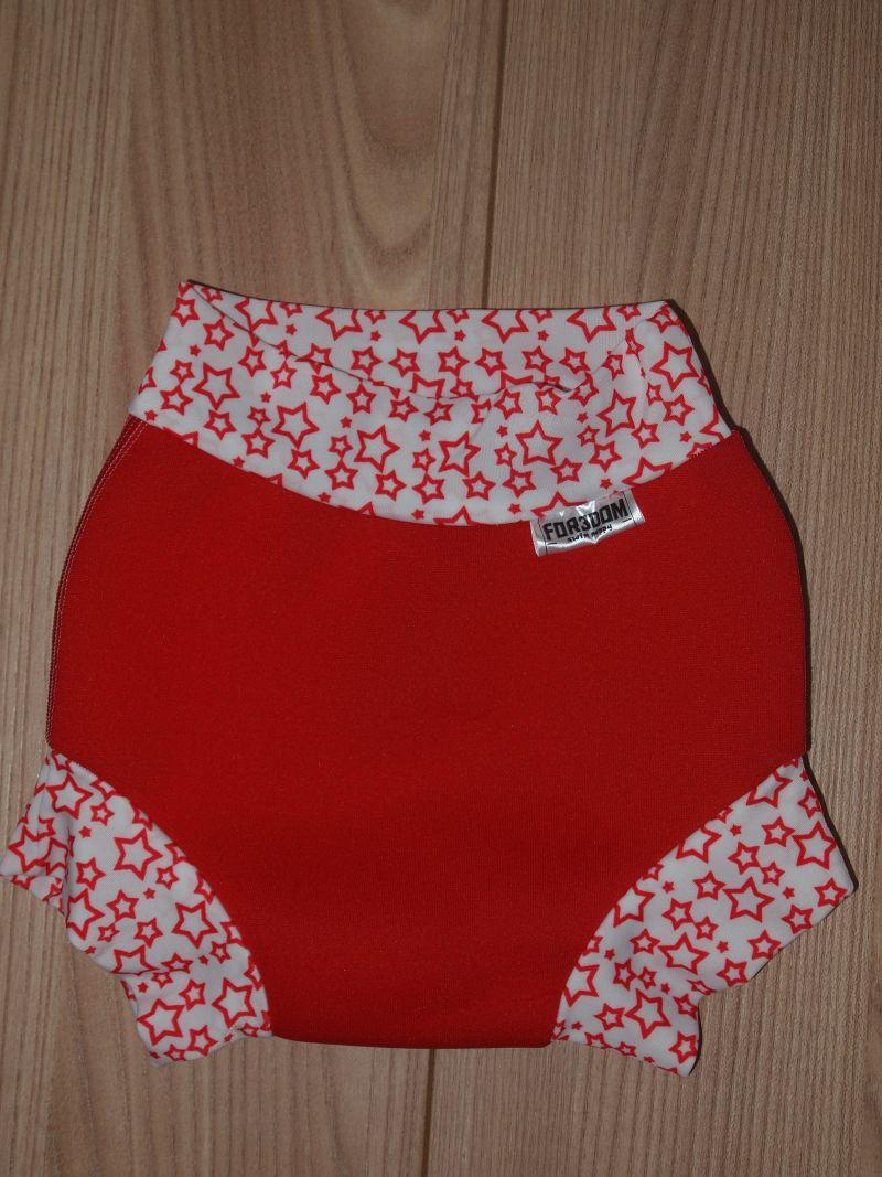 Swim nappy - hvězdy na červené, velikost M (Swim nappy - neoprenové plavací plenky)