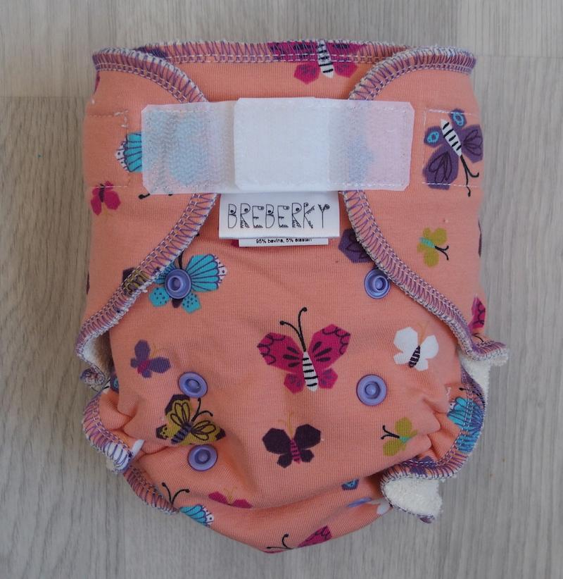 Kalhotová plena Breberky na suchý zip - Motýlci (Jednovelikostní kalhotová plena Breberky - neo