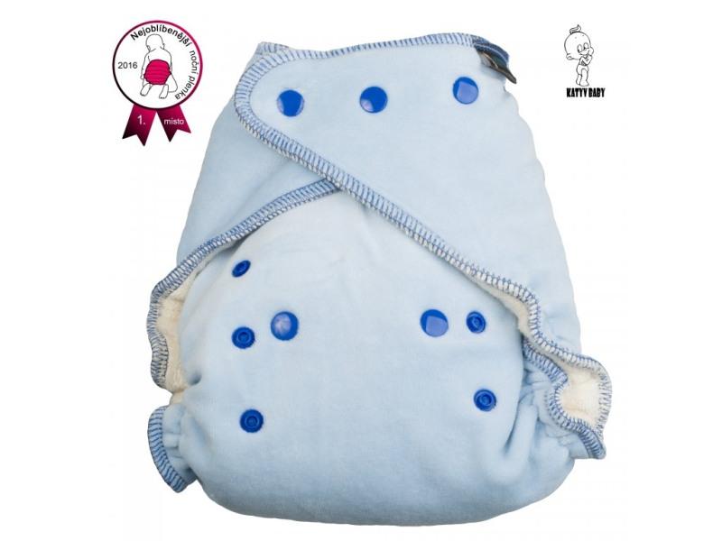 Noční kalhotová plena Katyv Baby na patentky - Světle modrá (Noční kalhotová plena na pat)