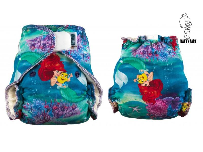 Novorozenecká kalhotová plena Katyv Baby na suchý zip - Ariel (Novorozenecká plena Katyv Baby)