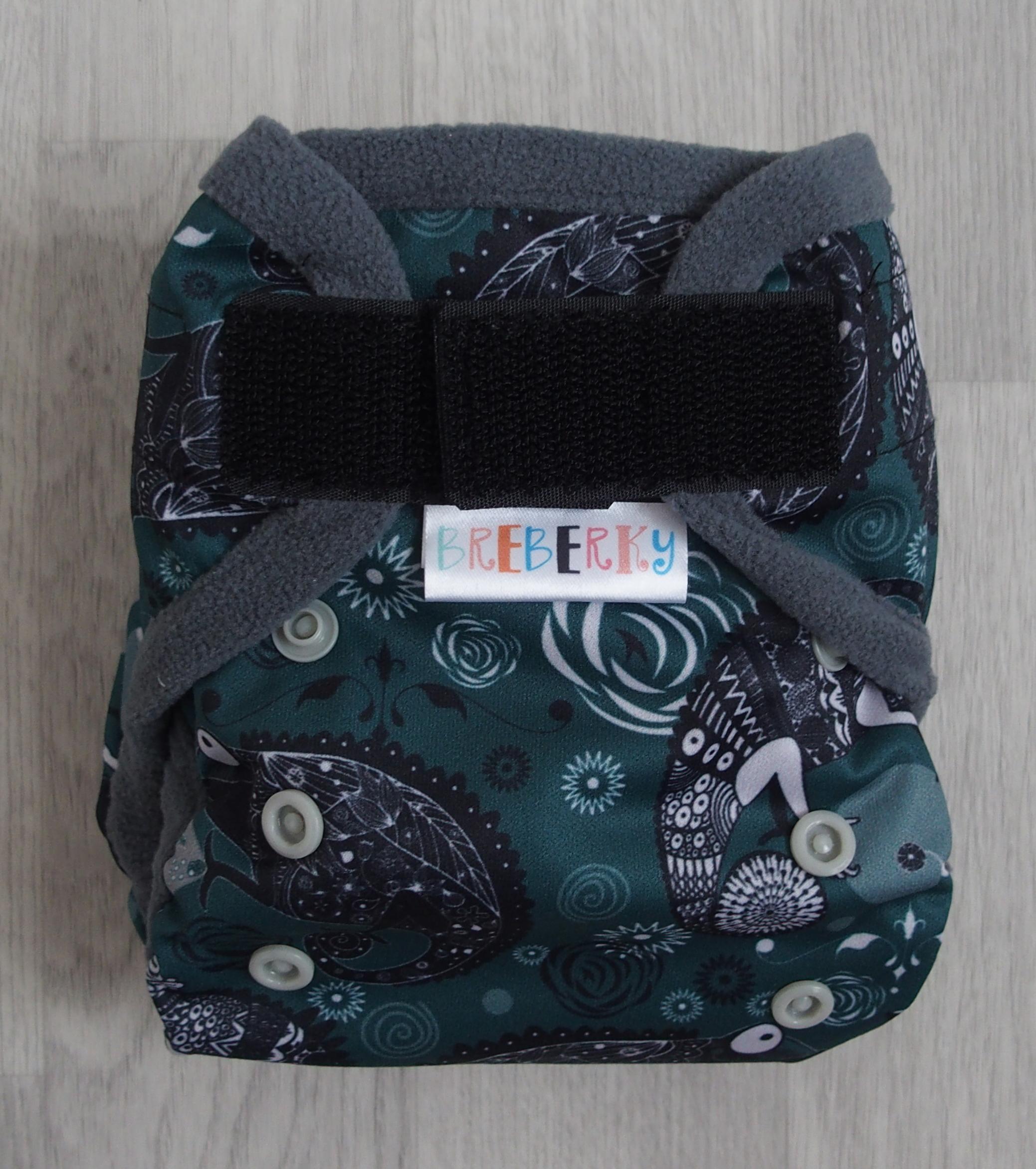 Novorozenecké svrchní kalhotky Breberky na sz (PUL klasický) - Chameleoni (Novorozenecké PUL svrchní kalhotky na suchý zip)