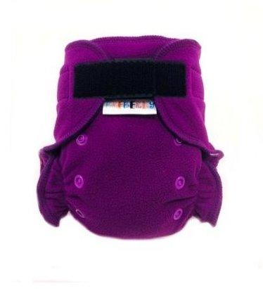 Svrchní novorozenecké flees kalhotky Breberky na sz - Fialová + růžová (Svrchní novorozenecké flees kalhotky Breberky - růžové patentky)