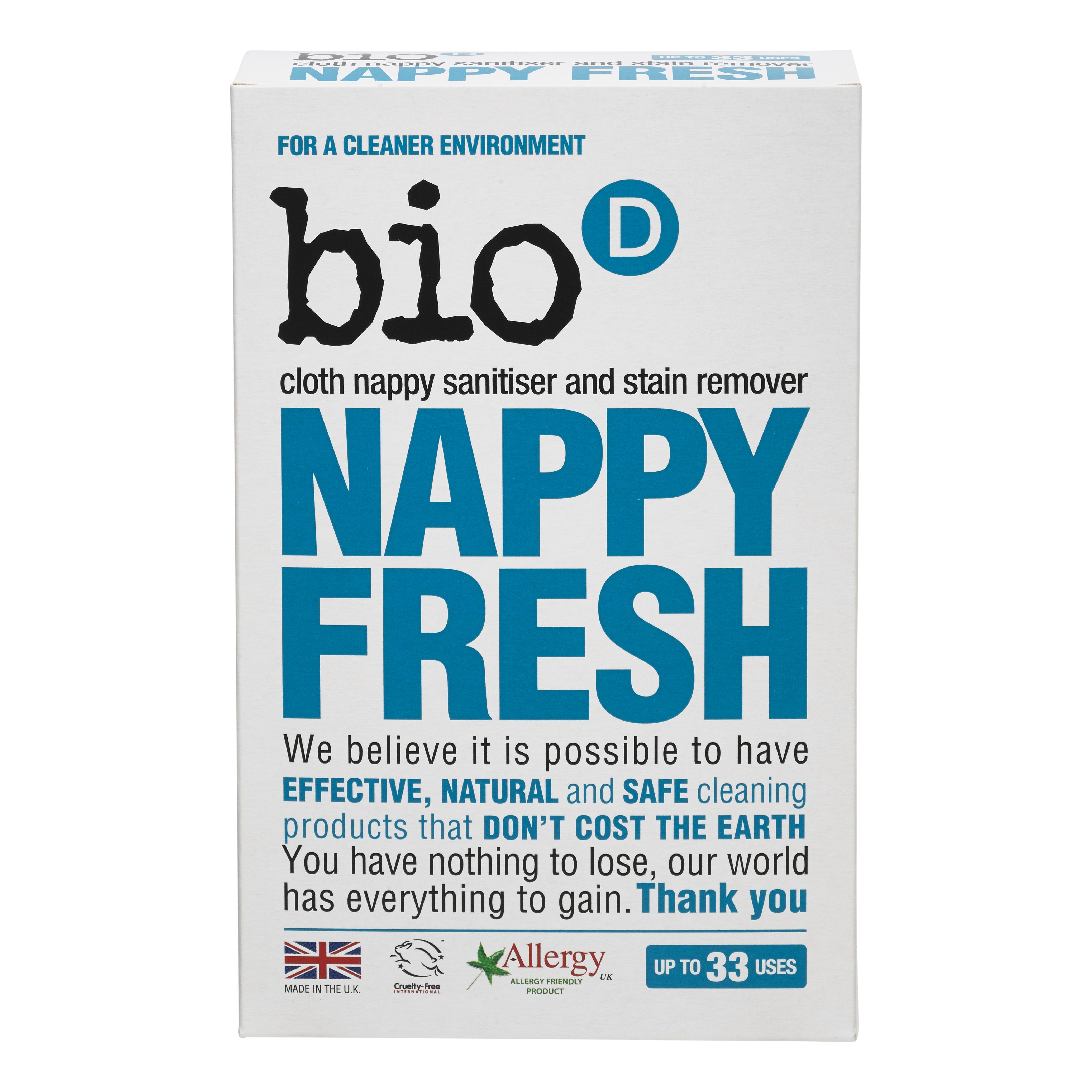 Bio-D Odstraňovač skvrn a dezinfekce plenek - 500 g (Přípravek na skvrny a desinfekci)