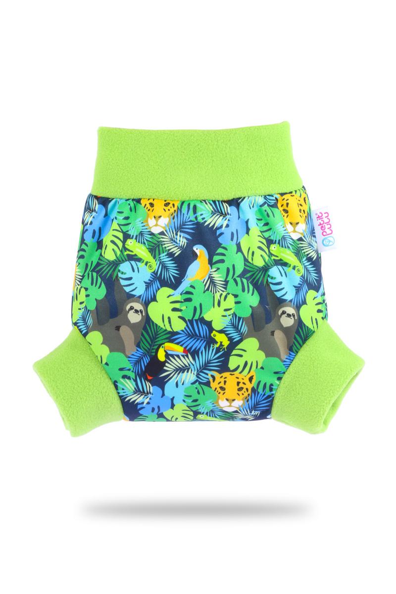 Natahovací svrchní PUL kalhotky Petit Lulu vel. M - Džungle (Pull-up svrchní kalhotky velikost M)