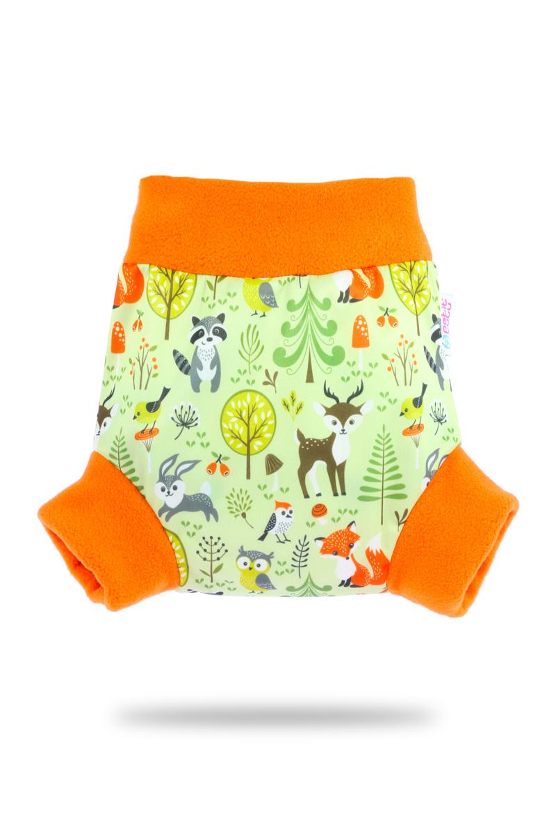 Natahovací svrchní PUL kalhotky Petit Lulu vel. M - Lesní zvířátka (Pull-up svrchní kalhotky velikost M)