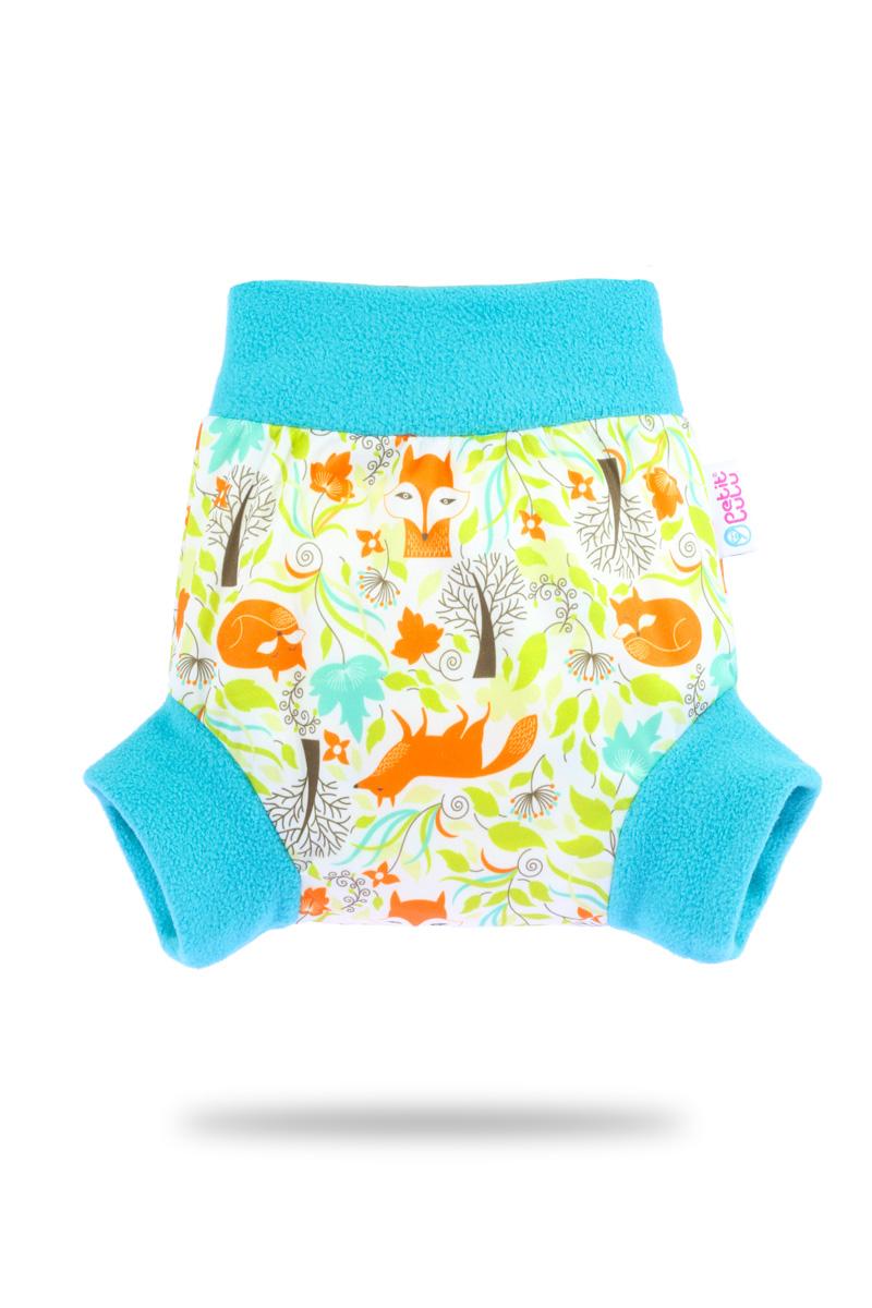 Natahovací svrchní PUL kalhotky Petit Lulu vel. L - Lišky (Pull-up svrchní kalhotky velikost L)