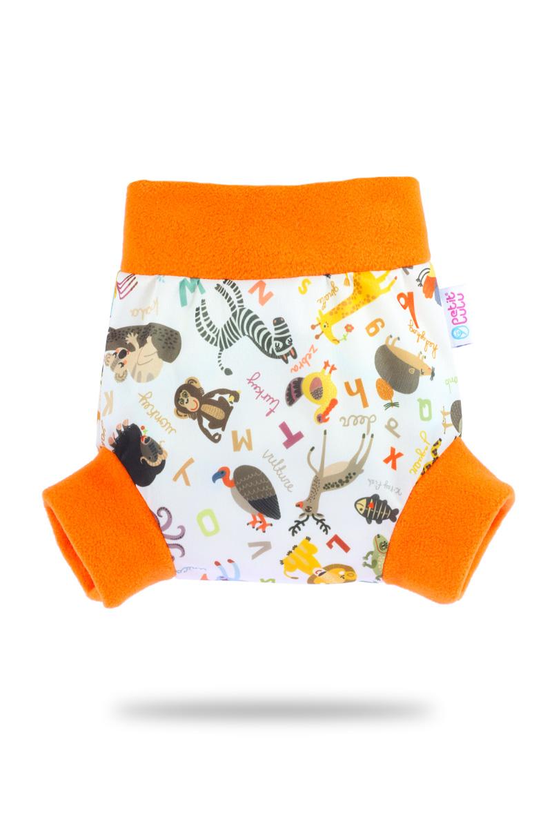 Natahovací svrchní PUL kalhotky Petit Lulu vel. XL - Abeceda zvířátek (Pull-up svrchní kalhotky velikost XL)