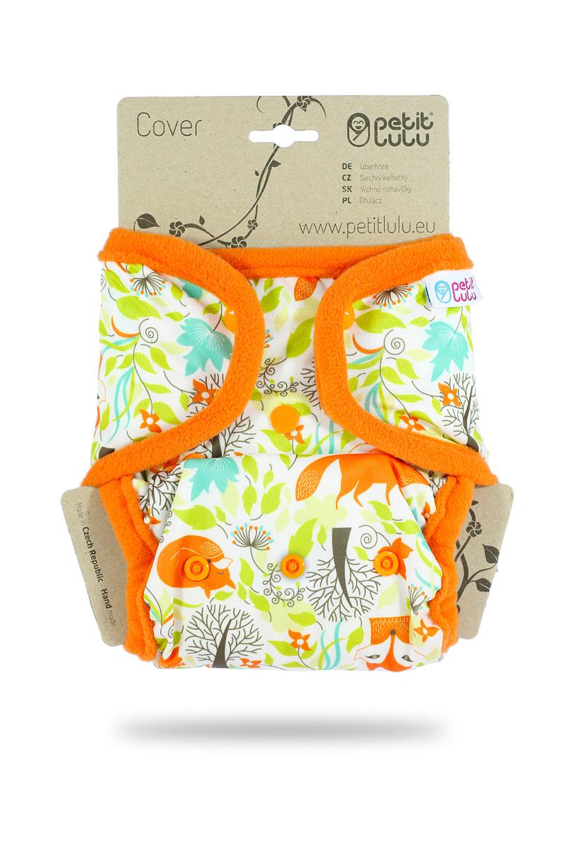 Svrchní PUL kalhotky Petit Lulu na patentky - Lišky (Jednovelikostní svrchní PUL kalhotky na pat)