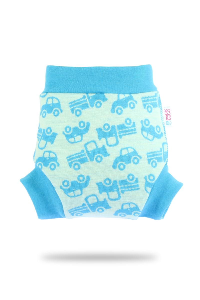 Vlněné svrchní kalthoky Petit Lulu velikost M - Autíčka (Vlněné svrchní kalhotky vel. M)