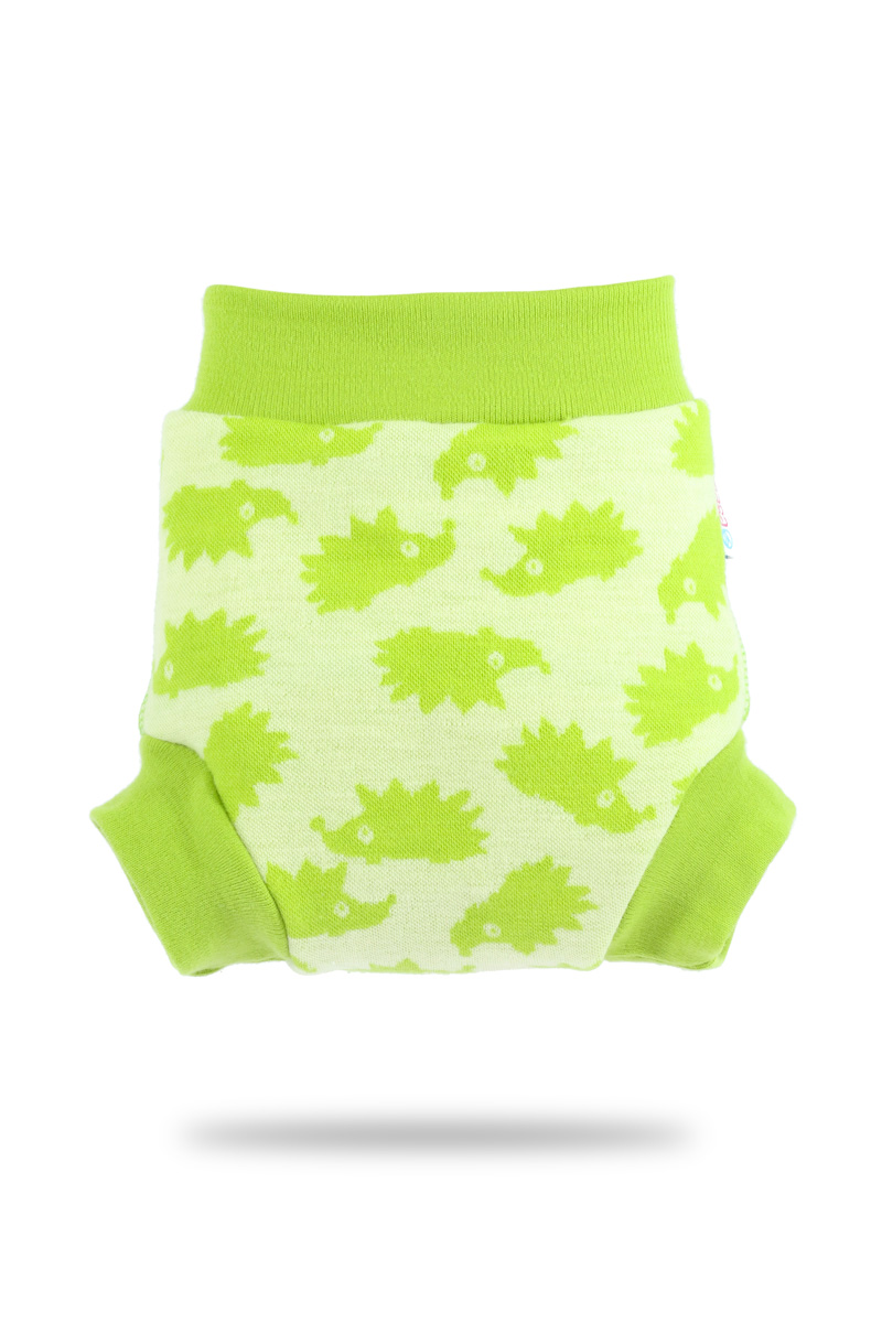 Vlněné svrchní kalthoky Petit Lulu velikost L - Zelení ježci (Vlněné svrchní kalhotky vel. L)