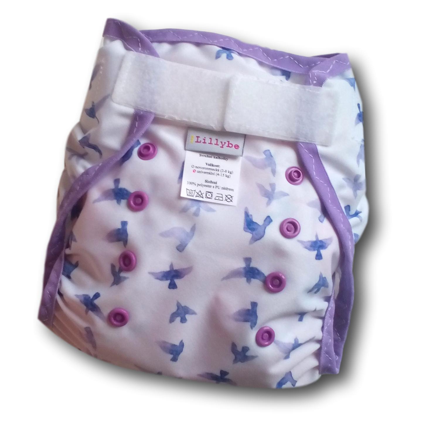Svrchní kalhotky Lillybe SZ racci, jednovelikostní (Jednovelikostní svrchní PUL Lillybe)