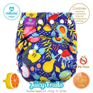 Kapsová plena Milovia fleece Juicy Fruits